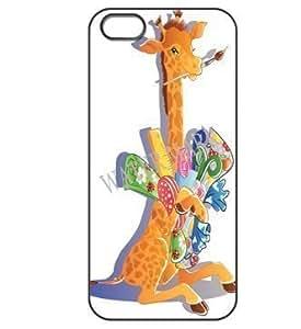 002 Popular Colorful Giraffe Painter hard shell case for iphone 5 black
