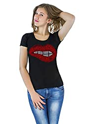Lips t-Shirt with Hot-Fix Sequins