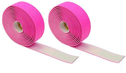 Domain Cycling Extra Long Gel Bicycle Handlebar Bar Tape Wrap for Road Bikes and Cycling (Pink)
