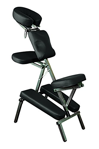 Health Mark Massage Chair (NRG® Grasshopper Adjustable Massage Chair with Carrying Case, Black, Adjustable Neck, Seat, and Arms)