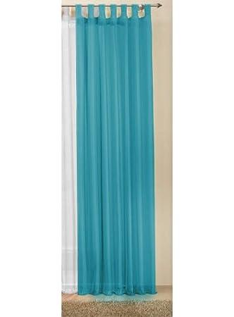 Gardinenbox Rideaux Unicolore Transparent en Voile, de Nombreuses Couleurs attrayantes, 245x 140, Turquoise, 61000