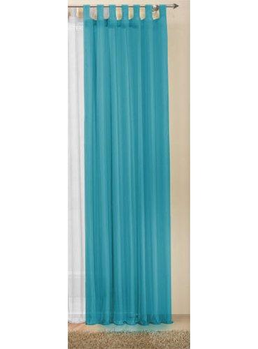 Gardinenbox, Tenda in voile trasparente, 245 x 140 cm, colore: Turchese, 61000