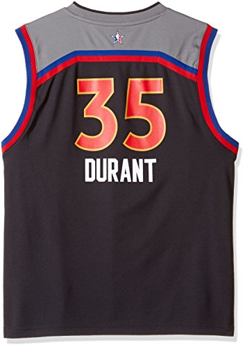 reputable site 63fd9 43bd5 OuterStuff NBA Kevin Durant Golden State Warriors All Star West Replica  Jersey, X-Large (18), Black