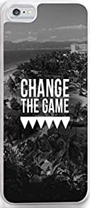"""Iphone Case,Dseason Iphone 5c Case NEW fashionable Unique Design christian quotes Black and white """"change the game"""""""