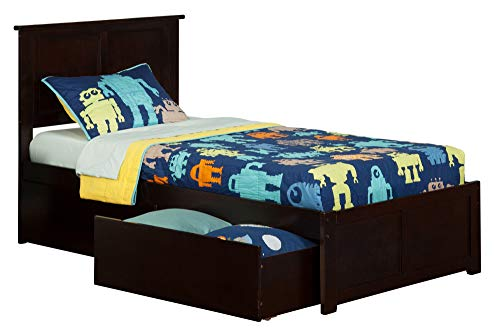 Atlantic Furniture AR8612111 Bed Twin/X-Large Espresso