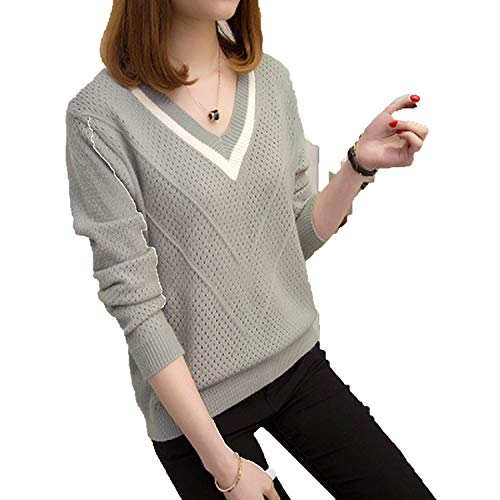 Sweaters and Pullovers Autumn Korean Hollow Womens Loose Kni