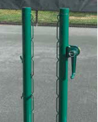 Tennis Court Net Posts - Har Tru Aluminum external wind post