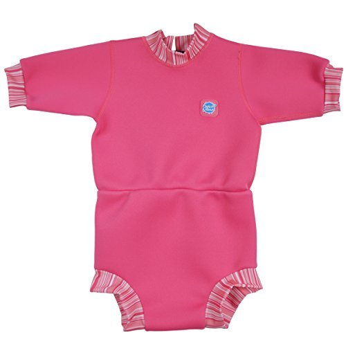 Splash About Babies Happy Nappy Wetsuit - Pink Candy, 3-8 Months, M by Splash (Nappy Candy)