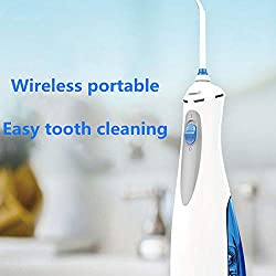 Power Dental Flossers Water Flossing Jet Tips For Home Cordless Water Flosser Teeth Cleaner, Rechargable Portable Oral Irrigator For Travel, Braces & Bridges Care, IPX7 Waterproof,blue Flossing Jet Ti