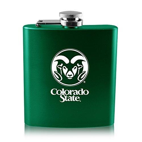 最高級のスーパー Colorado Colorado State B0188ITO6Q University - 6オンスカラーステンレススチールflask-green University B0188ITO6Q, tomoz:68f5160d --- workflow.officeporto.com