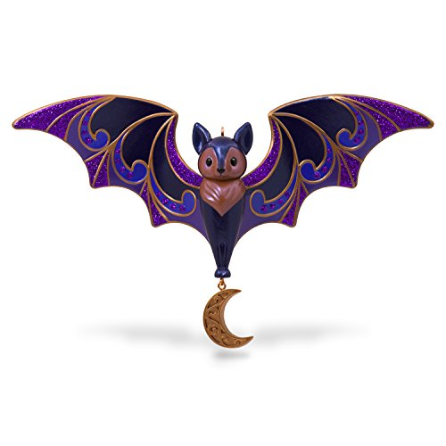 Hallmark Keepsake Halloween Decor Ornament 2018 Year Dated, Bewitching Bat -