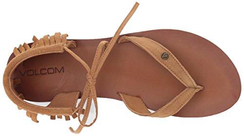Gladiator Volcom mujer Fashion para total planas de acceso Volcom Sandalias de HgpqxFOF