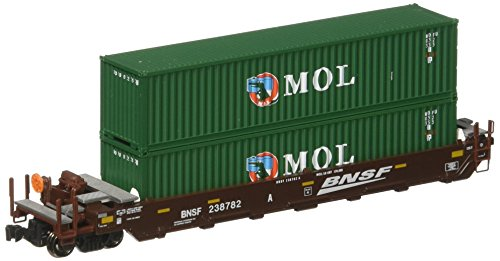 Double Stack Well Car (Kato USA Model Train Products Gunderson MAXI-I BNSF