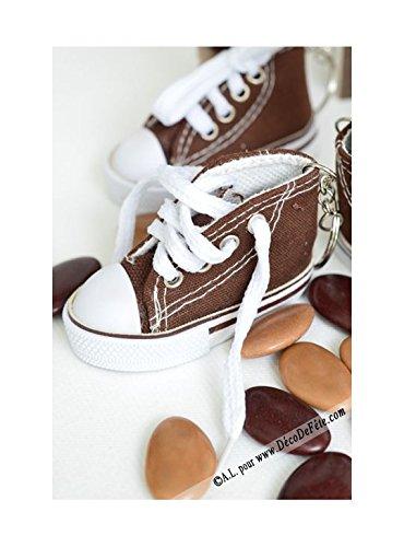 Bolsita de 2 llavero Zapatillas 7,5 cm en tejido, Chocolate ...