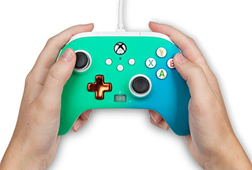 PowerA Enhanced Wired Controller for Xbox – Seafoam Fade, Gamepad, Wired Video Game Controller, Gaming Controller, Xbox Series X|S, Xbox One – Xbox Series X (Only at Amazon) 41M14FRIKpL