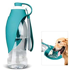 TIOVERY Dog Water Bottle for Walking, Pet Water Dispenser Feeder Container Portable with Drinking Cup Bowl Outdoor Hiking, Travel for Puppy, Cats, Hamsters, Rabbits and Other Small Animals 20 OZ 22