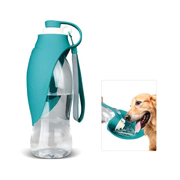 TIOVERY Dog Water Bottle for Walking, Pet Water Dispenser Feeder Container Portable with Drinking Cup Bowl Outdoor Hiking, Travel for Puppy, Cats, Hamsters, Rabbits and Other Small Animals 20 OZ 1