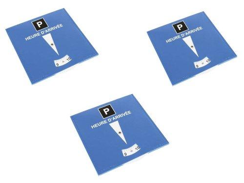 Lot de 3 disques de stationnement pour zone bleue