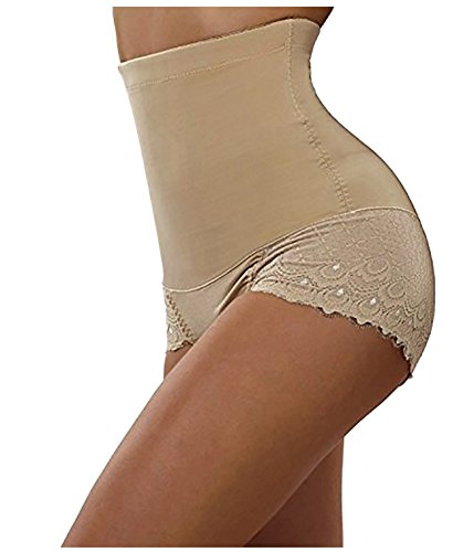 (Nebility Women Butt Lifter Shapewear Seamless Waist Trainer Hi-Waist Tummy Control Body Shaper Panty (2XL, Beige))