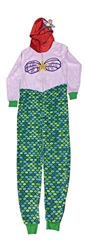 Disney Costumes Ideas For Women (Disney Ariel Womens Union Suit Pajamas (L 12-14))