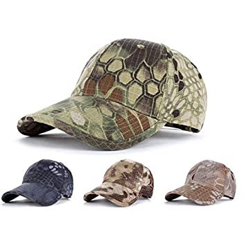 b4477a4632c Amazon.com  Men Tactical Operator Camo Baseball Cap Military Army Special  Forces Airsoft Hat (Black)  Garden   Outdoor