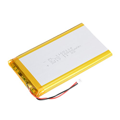 uxcell Power Supply DC 3.7V 10000mAh 1165114 Li-ion Rechargeable Lithium Polymer Li-Po Battery