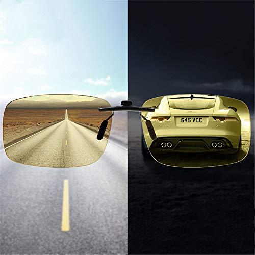 Cambia Sol la de de de Las Que de los KOMNY visión Noche Clip Nocturna Gafas de Clip día y de y Alta polarizado Hombres viga Conduce El Que Color Anti xaxpqgWwT0