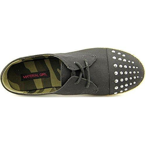 Material Girl Mujeres Zapatos Button Oxford Flats En Negro Talla 7.5