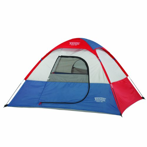 Wenzel Children's Sprout Two-Person Dome Tent, Red/Blue/White, 6 x 5-Feet, Outdoor Stuffs