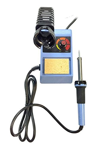 MIYAKO USA 50 Watts Electric Soldering Iron With Adjustable Temperature Control - Welding Solder Station - Handheld Electric Iron by MIYAKO (Image #1)