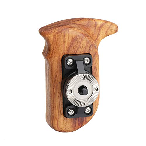 - RigLand Wooden Handle Grip (Right Side) with Rosette Mount for Camera Cage, Zhiyun Crane 2, DJI Ronin - 681