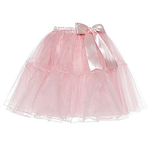 Haute Bowknot Couches Plusieurs Tulle Jupe Pink Light Au Genou Au Tailles Petticoat Femmes Dessus Tutu LSCY Taille qxYP00