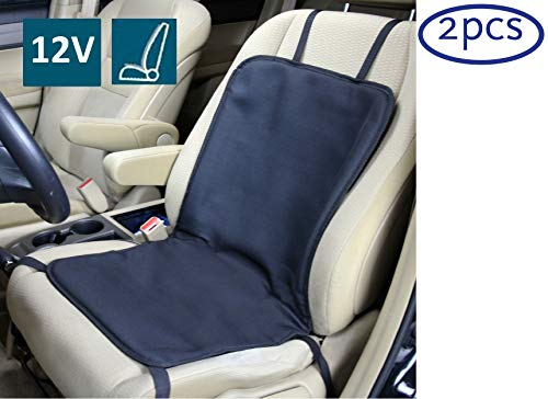 (ObboMed SH-4102 (2Pcs) 12V 45W Heated Seat Cushion Cover, Utility Model with Premium Cigarette Lighter Plug, Specially Secured Fitting (Vertical or Horizontal))