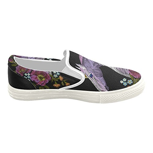 D-story Custom Sneaker Mujeres Slip-on Canvas Zapatos Mullticolored24