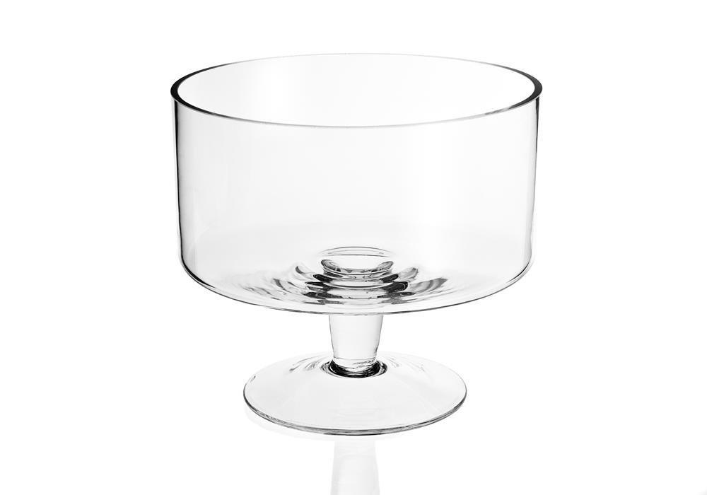 Badash Crystal Lexington Mouth Blown Glass Trifle Bowl 9 S427