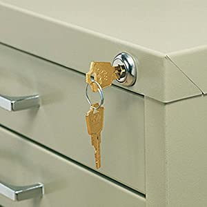 Safco Office Document Storage Lock Kit for 5 Drawer Steel Flat Files