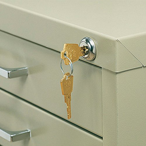 Safco Office Document Storage Lock Kit for 5 Drawer Steel Flat (5 Drawer Flat File Lock)