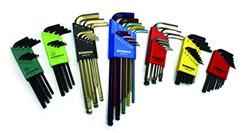 .050-3//8-Inch 12137 Long Length Bondhus 22199 Hex L-wrench Double Pack