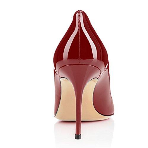 Eldof Vrouwen Comfort Office Pumps Hoge Hak Jurk Pumps Voor Bruiloft Patry / 8cm Wijn
