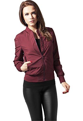 Urban Classics Ladies Light Bomber Jacket - Chaqueta Mujer Rouge (burgundy 606)