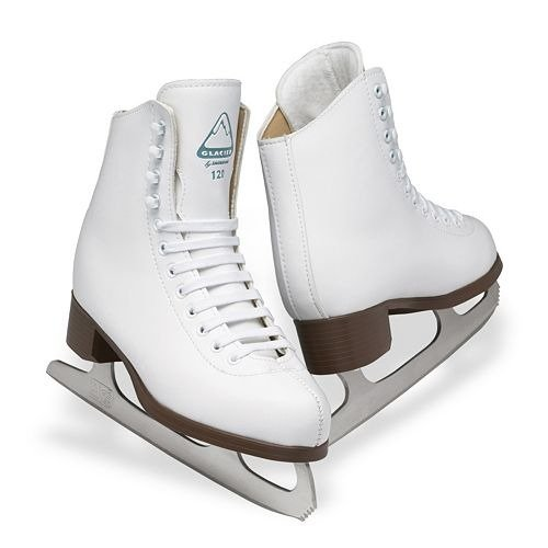 Ice White Womens Skates - Jackson Ultima Glacier GSU120 White Womens Ice Skates, Size 10