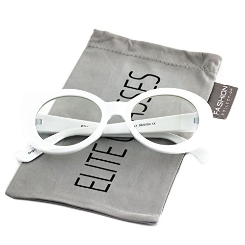 0534be358d Clout Goggles Oval Mod Retro Thick Frame Rapper Hypebeast Eyewear Supreme  Glasses Cool Sunglasses - Buy Online in Oman.