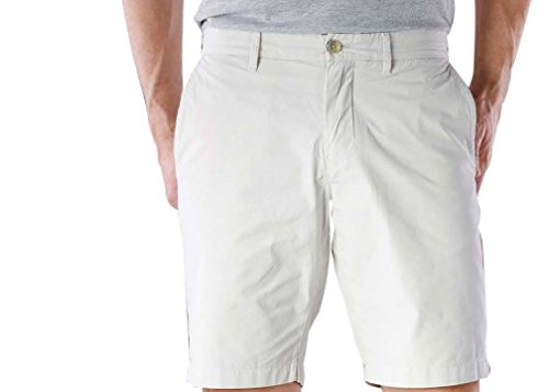 Tommy Hilfiger Wholesale - Tommy Hilfiger Mens Classic Fit Flat Front Khaki, Chino Shorts (36, Gray Violet)