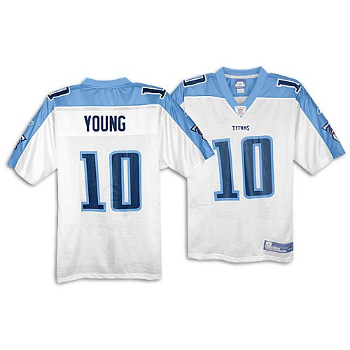 Amazon.com  Reebok Vince Young Jersey White Replica  10 Tennessee ... e25ae3adb