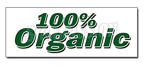 Organic Decal Sticker Vegetarian Vegan GMO Produce Healthy Fruit Veg Sticker Sign - Sticker Graphic Sign - Will Stick to Any Smooth Surface ()
