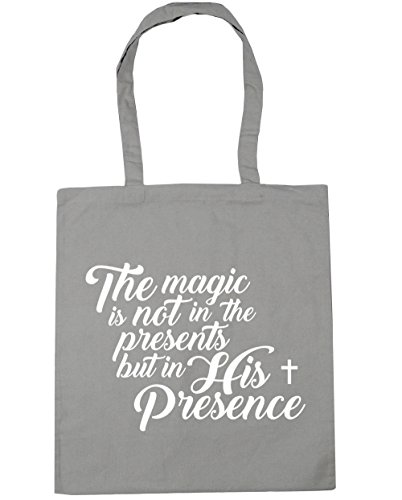 Grey Not the in Shopping litres The Presents Gym HippoWarehouse But 10 Presence Tote Light Bag Beach Magic is 42cm x38cm His in q71HtAH