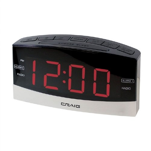 Craig Electronics CR41806BT Craig Cr41806bt Dual Alarm Clock Ppl Am Fm Radio & Bluetooth
