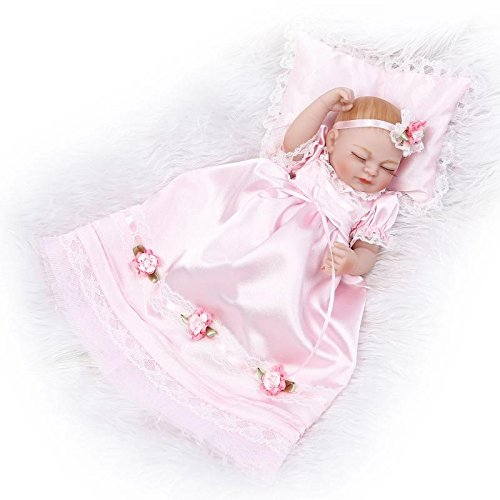 10inch Full Silicone Reborn Sleeping Girl Baby Doll Lifelike Little Princess Poseable Vinyl Playhouse Toy