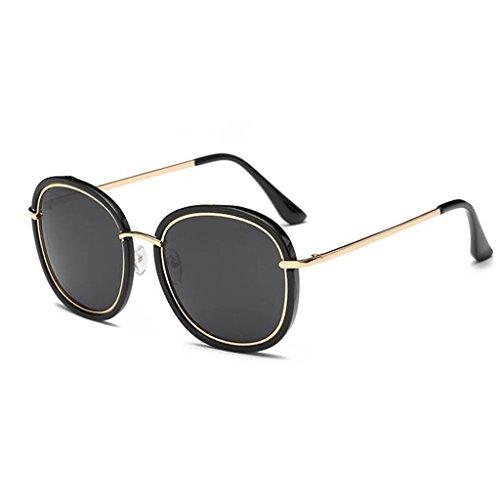De Polarizada HOME Redonda Personalidad De Azul Negro Sol Color Gafas QZ Moda Cara Luz qwUxp4xEnR
