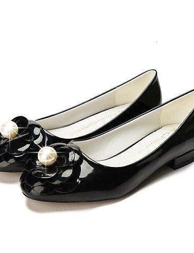 negro red Punta 5 cn40 casual talón tipo la Mocasín zapatos almendra mujer vestido us8 5 Toe uk6 Toe de eu39 cerrado Chunky Flats PDX rojo gqU8Zwx